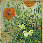 Poppies and Butterflies, Vincent van Gogh