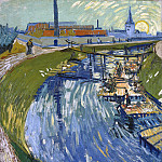 Canal with Women Washing, Vincent van Gogh