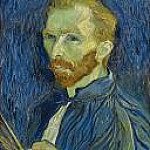 Self Portrait with Pallette, Vincent van Gogh