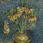 Jean-Léon Gérôme - Still Life with Frutillarias in a Copper Vase