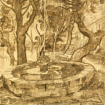 Vincent van Gogh - Fountain in the Garden of Saint-Paul Hospital