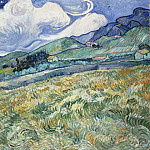 Vincent van Gogh - Mountainous Landscape Behind Saint-Paul Hospital