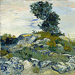 Rocks with Oak Tree, Vincent van Gogh