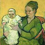 Vincent van Gogh - Portrait of Madame Augustine Roulin and Baby Marcelle