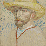 Self-Portrait with Straw Hat, Vincent van Gogh