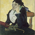 Vincent van Gogh - A L Arlesienne (Madame Ginoux with Gloves and Umbre)