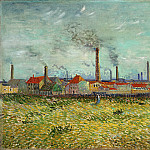 Vincent van Gogh - Factories at Asnieres, Seen from the Quai de Clichy