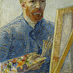 Self-Portrait in Front of the Easel, Vincent van Gogh