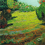 Garden with Weeping Willow, Vincent van Gogh
