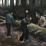 Four Men Cutting Wood, Vincent van Gogh