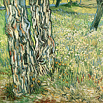 Pine Trees and Dandelions in the Garden of Saint-Paul Hospital, Vincent van Gogh