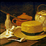 Still-life with straw hat