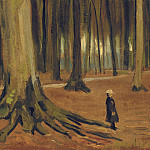 Girl in the Woods, Vincent van Gogh