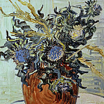 Vase with Flower and Thistles, Vincent van Gogh