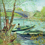 Fishing in the Spring, Pont de Clichy, Vincent van Gogh