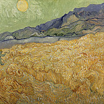 Wheat Fields with Reaper at Sunrise, Vincent van Gogh
