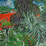 Doctor Gachets Garden in Auvers, Vincent van Gogh