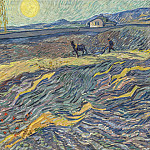 Enclosed Field with Ploughman, Vincent van Gogh