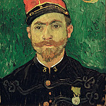Vincent van Gogh - Portrait of Milliet, Second Lieutenant of the Zouaves