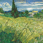 Green Wheat Field with Cypress, Vincent van Gogh