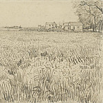 Field with Farmhouses, Vincent van Gogh