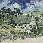 Houses with Thatched Roofs, Cordeville, Vincent van Gogh
