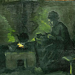 Peasant Woman by the Fireplace, Vincent van Gogh