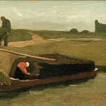 Peat boat with two figures, Vincent van Gogh