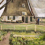 The Windmill Near Hague, Vincent van Gogh