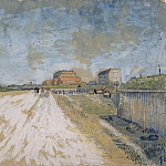 Road Running Beside the Paris Ramparts, Vincent van Gogh