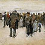 Vincent van Gogh - People Strolling on the Beach