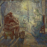 Evening , Vincent van Gogh