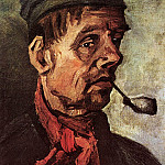 Head of a Peasant with a Pipe, Vincent van Gogh