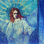 Vincent van Gogh - Half Figure of an Angel (after Rembrandt)