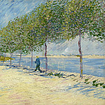 Walk Along the Banks of the Seine Near Asnieres, Vincent van Gogh