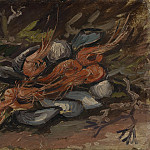 Still Life with Mussels and Shrimps, Vincent van Gogh