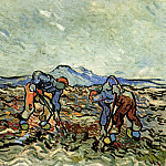 Peasants Lifting Potatoes, Vincent van Gogh