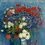 Vase with Cornflowers and Poppies, Vincent van Gogh