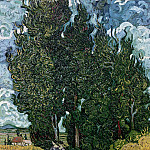 Cypresses with Two Female Figures, Vincent van Gogh