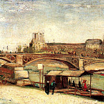 The Pont du Carrousel and the Louvre, Vincent van Gogh