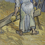 Peasant Woman Cutting Straw , Vincent van Gogh