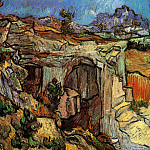 Vincent van Gogh - Entrance to a Quarry near Saint-Remy