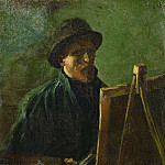 Self-Portrait with Felt Hat at the Easel, Vincent van Gogh