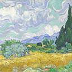 A Wheatfield, with Cypresses, Vincent van Gogh