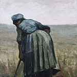 Peasant Woman Digging, Vincent van Gogh