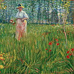Woman in a garden, Vincent van Gogh