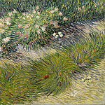 Vincent van Gogh - Grass and butterflies