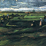 Women Mending Nets in the Dunes, Vincent van Gogh