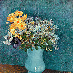 Vincent van Gogh - Vase with Lilac, Margerites and Anemones