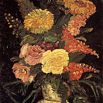Vase with Asters, Salvia and Other Flowers, Vincent van Gogh